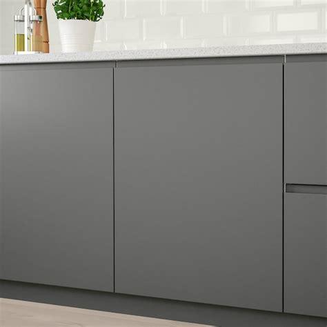 Ikea makes getting a sleek european kitchen affordable. VOXTORP Door - dark grey - IKEA
