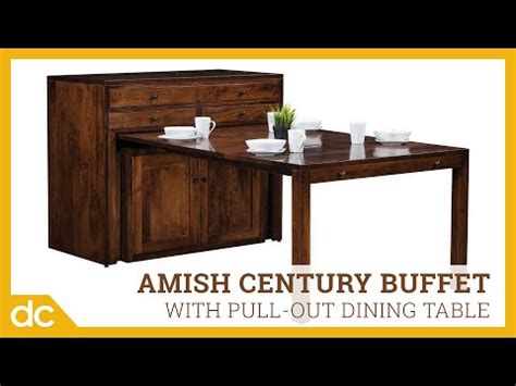 amish century buffet  pullout dining table youtube