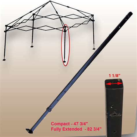 ozark trail   gazebo canopy    adjustable leg replacement part black ebay