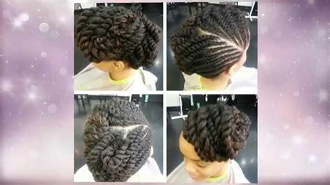 Flat Twist Updo Hairstyles   YouTube