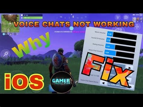 fix voice chat  working  iphone  fortnite mobile