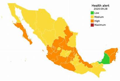 Covid Mexico Traffic Svg Outbreak Wikimedia Commons