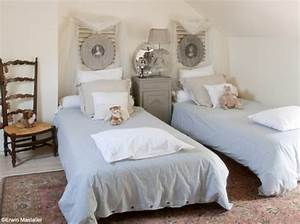 decoration chambre campagne chic visuel 7 With deco chambre campagne chic