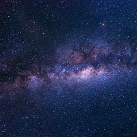 Colorful Space Shot Milky Way Galaxy With Stars