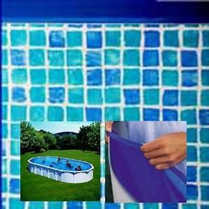Liner Piscine Hors Sol Ovale : liner piscine gre ovale 915x470 cm haut 132 cm mosaique ~ Dode.kayakingforconservation.com Idées de Décoration
