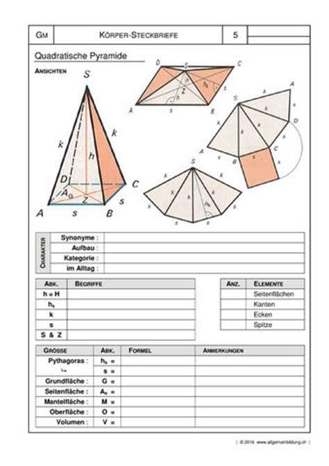 mathematik geometrie arbeitsblatt geometrische koerper