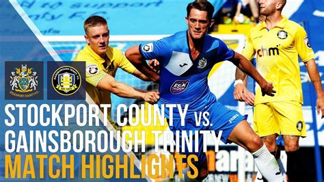 Stockport County Vs Gainsborough Trinity - Match ...