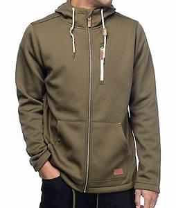 Olive Green Zip Up Hoodie - Baggage Clothing