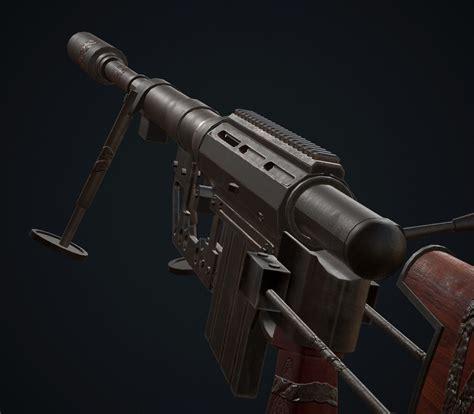 Sniper M200 3D asset   CGTrader