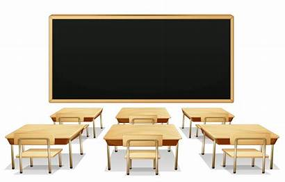 Blackboard Classroom Clipart Desks Transparent Yopriceville