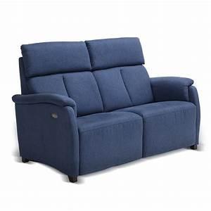 canape deux places design moderne cuir ecocuir ou tissu gelso With canapé deux places design