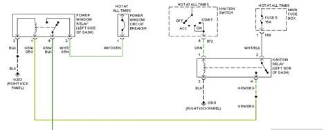 Driver Side Power Window Wiring Diagram The Switch