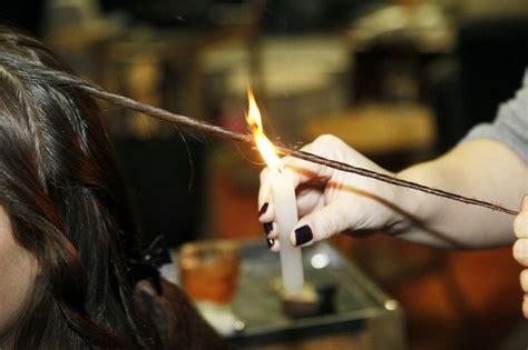 haare spliss entfernen candle cutting spliss entfernen durch abbrennen