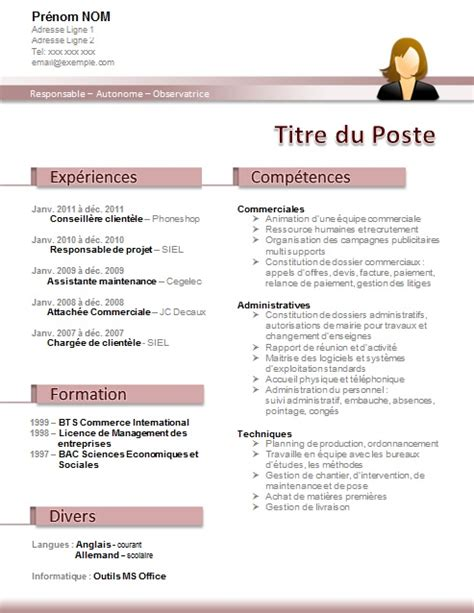 modele cv secretaire administrative divers lettres de motivation cv secretaire