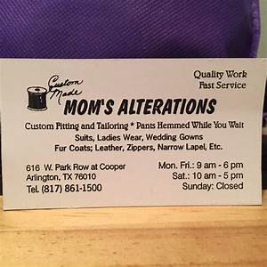 Mom39s alterations business card yelp for Alterations business cards