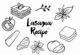 Lasagna Drawing Drawn Vector Getdrawings Clipart sketch template