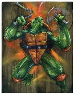 Michelangelo Teenage Mutant Ninja Turtles Art Print TMNT Art
