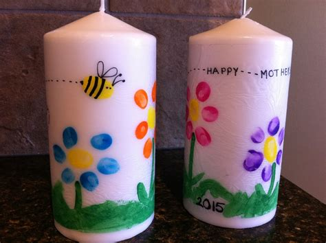 mothers day art candles  kid craft