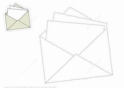 Envelope Lines Draw Coloring Dashed Restoring Printable