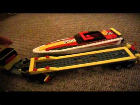 Cigarette Boat Lego by Lego Motor Boat And Trailer Set 4643