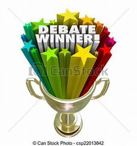 Drawing of Debate Winner Gold Trophy Prize Best Argument ...