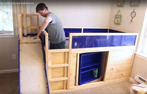 loft bed with slide ikea uses ikea hack to make amazing loft bed for