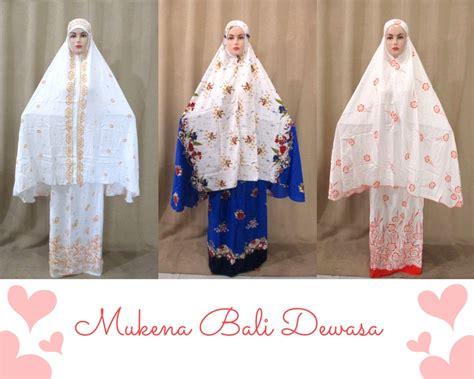 Mukena Bali Vioni Dewasa pusat produksi mukena bali murah cuma 62rb grosir baju