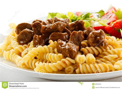les pates de viande p 226 tes avec de la viande photo stock image 20634810