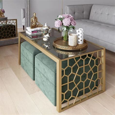 You can place your daily use items and other decorative stuff on the tabletop. CosmoLiving by Cosmopolitan Juliette Glass Top Coffee Table & Reviews | Wayfair | Apartment ...