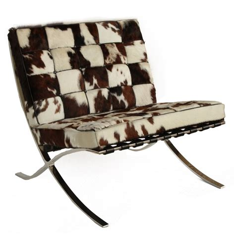 Cowhide Barcelona Chair by Replica Mies Der Rohe Barcelona Chair Cowhide The