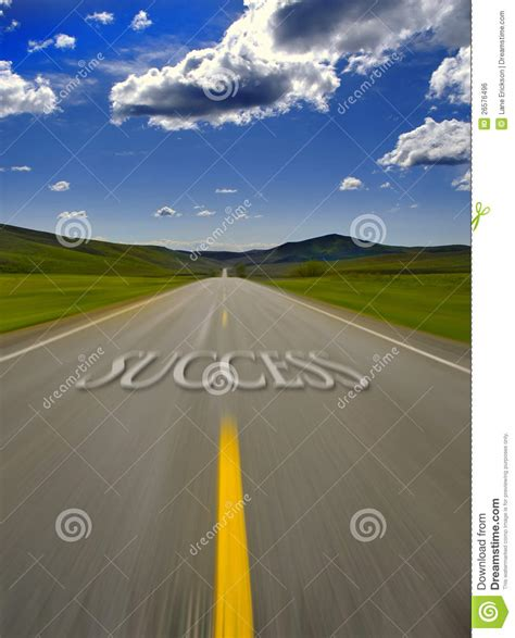 road  success royalty  stock image image