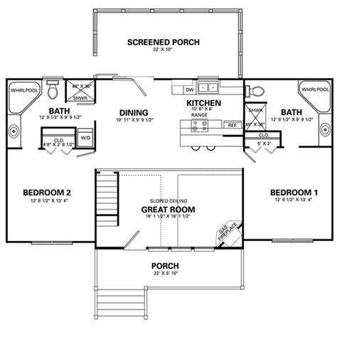 simple  bedroom home floor plans joy studio design