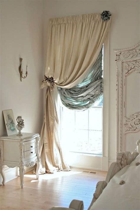 bedroom window double curtain rods    top    side   window frame