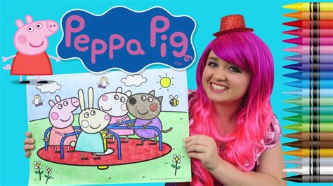 coloring peppa pig friends jumbo coloring page crayola
