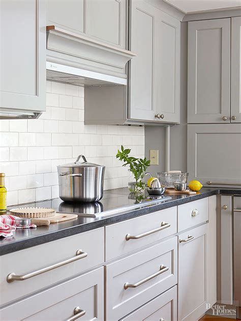 Grey Color Kitchen Cabinets by Gray Kitchen Cabinets Better Homes Gardens