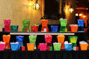 80s Theme Candy Buffet