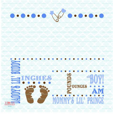 Birth Announcement Template Free by Birth Announcement Template Svg Birth Svg Baby Svg