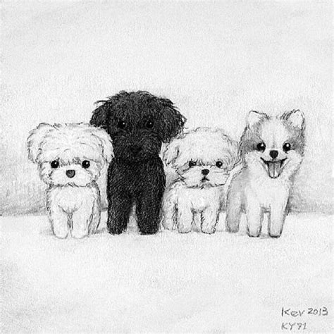 adorable drawing    cute dog