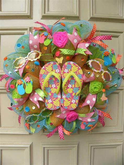 Beach Wreath Wreaths Wreath Crafts Deco Mesh Wreaths