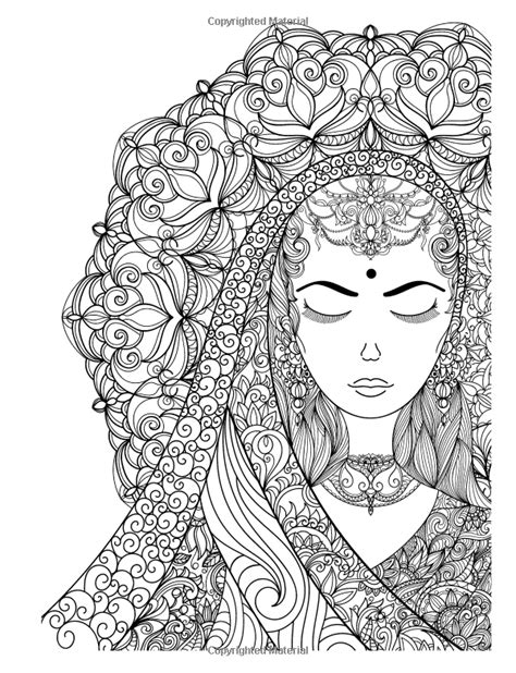 Coloring Books For Girls: Princess & Unicorn Designs: Advanced Coloring Pages for Tweens