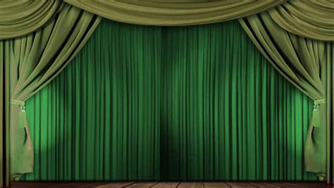 24 Length Curtains by High Definition Clip Of An Opening Green Stage Curtain