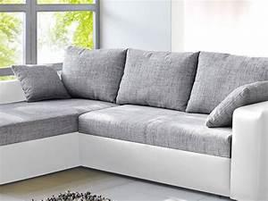 Couch Weiß Grau : ecksofa vida 244x174cm grau weiss schlafsofa sofa couch polsterecke kaufen bei vbbv gmbh co kg ~ Watch28wear.com Haus und Dekorationen