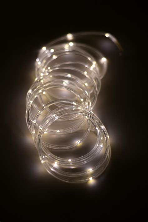 mini led rope light warm white 15ft 60ct