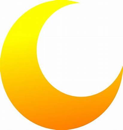 Moon Half Crescent Clipart Yellow Clip Vector