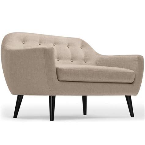 canapé 130 cm canapé 2 places scandinave quot chestwick quot 130cm beige