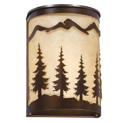 Rustic Wall Sconces: Big Sky Energy Saving Outdoor Sconce