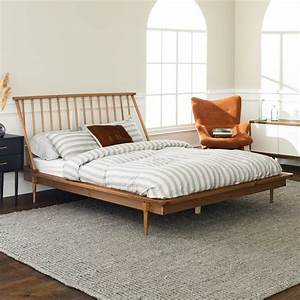 Modern, Wood, Queen, Spindle, Bed