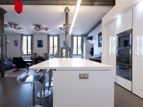 il central cuisine cuisine design sur mesure skconceptparis cuisine design laque blanc brillant avec ilôt