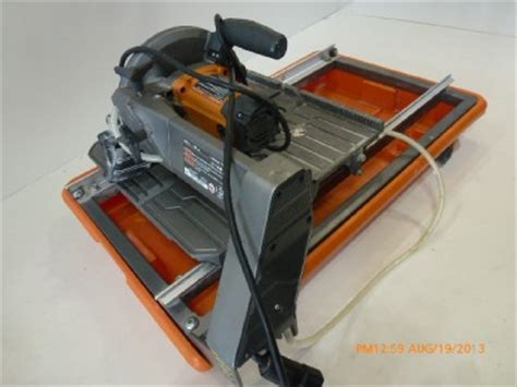 ridgid r4030 7 quot wet tile saw 2792 j ebay