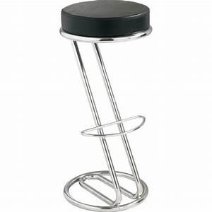 Tabouret De Bar Noir : location de tabouret de bar en z avec assise noire et ~ Melissatoandfro.com Idées de Décoration